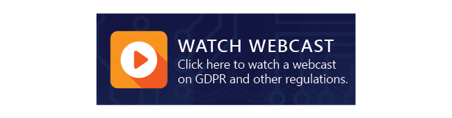 Watch GDPR Webcast