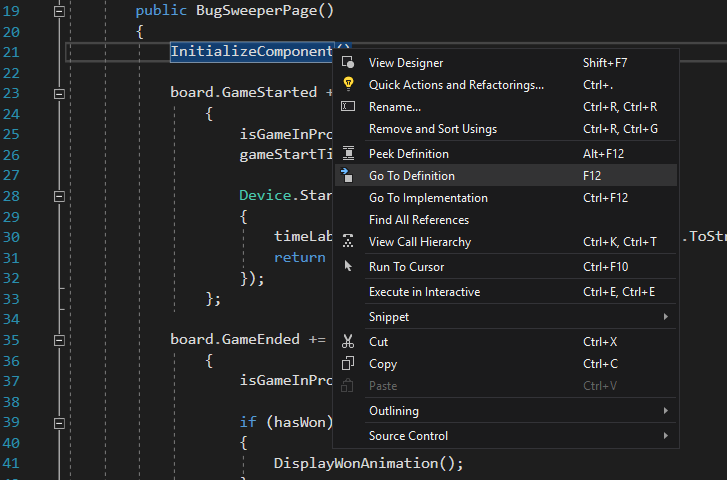 "Using ""Go to Definition"" in Visual Studio"