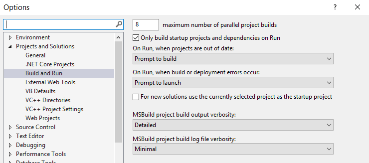 Set te he MSBuild output level to 'Detailed'